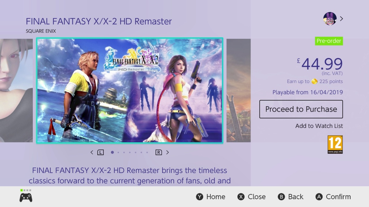 Final Fantasy X/X-2 HD Remaster eShop Screenshot
