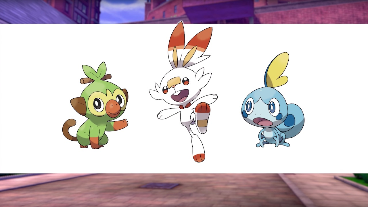 Grookey Scorbunny Sobble Pokémon Screenshot
