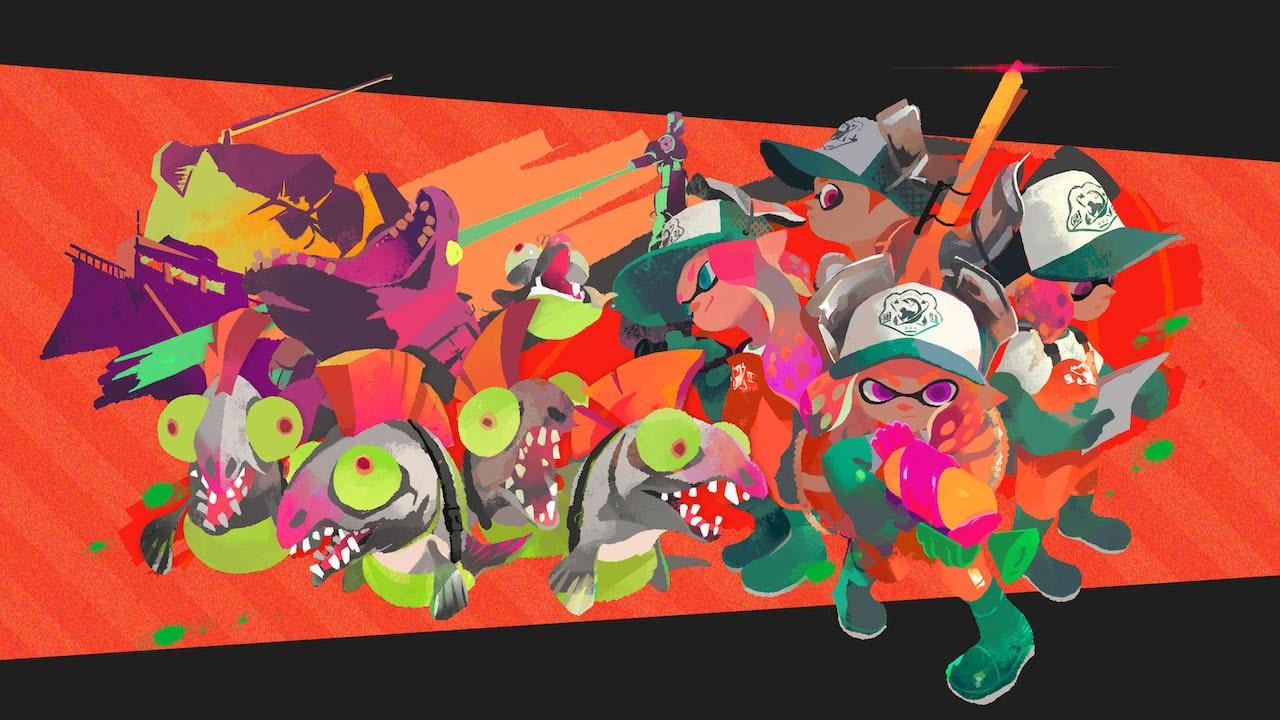 Splatoon 2 Salmon Run Key Art