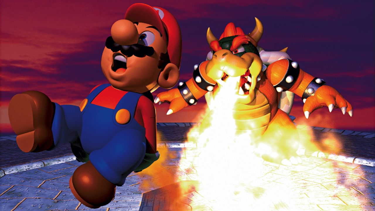 Super Mario 64 Bowser Fight Artwork