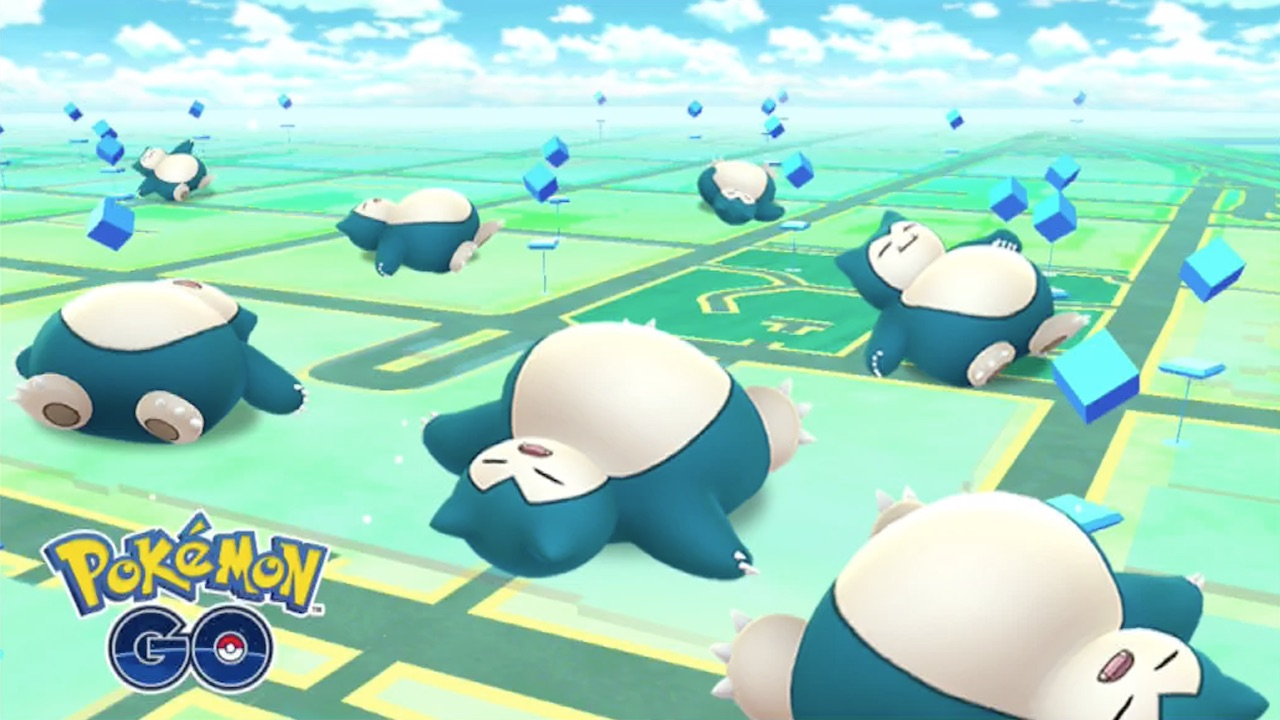 Sleeping Snorlax Pokémon GO Screenshot
