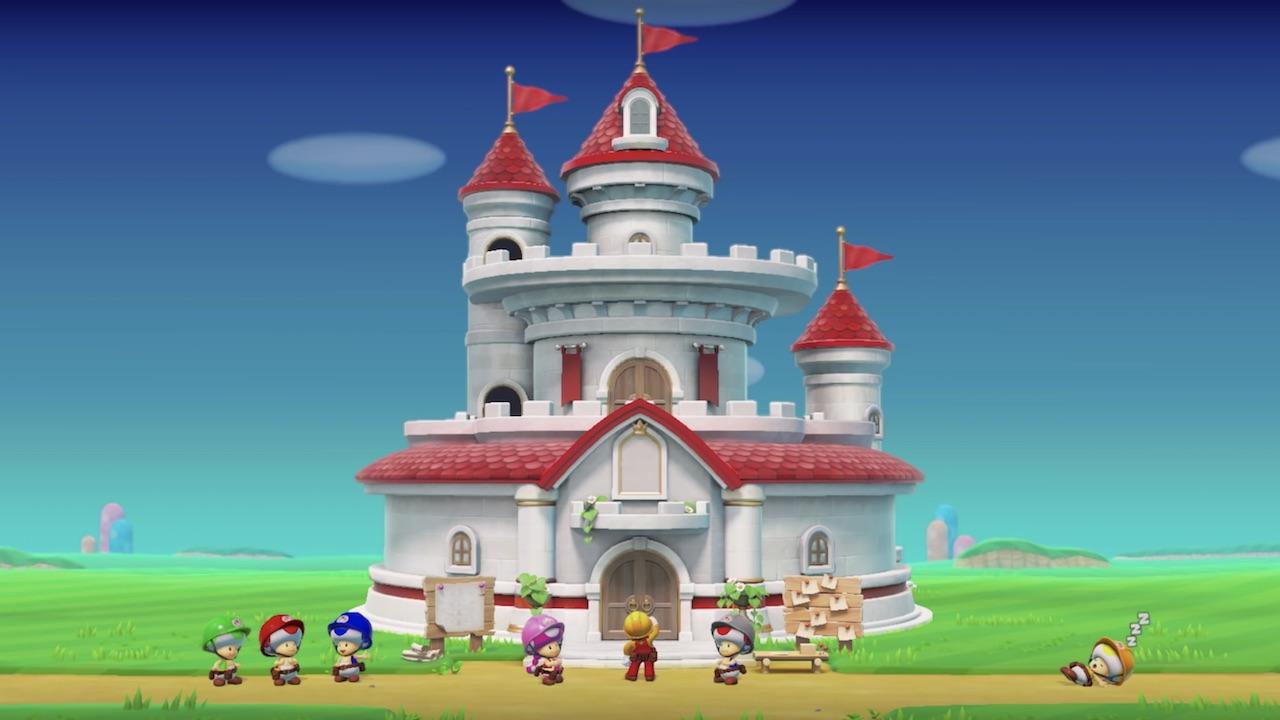 Super Mario Maker 2 Peach's Castle Screenshot