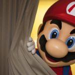 Mario Hiding Curtain Photo