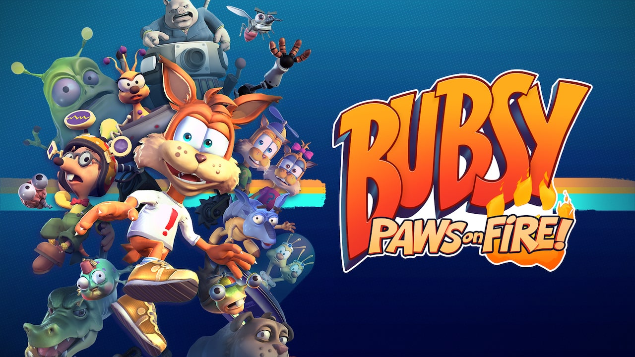 Bubsy: Paws On Fire! Logo