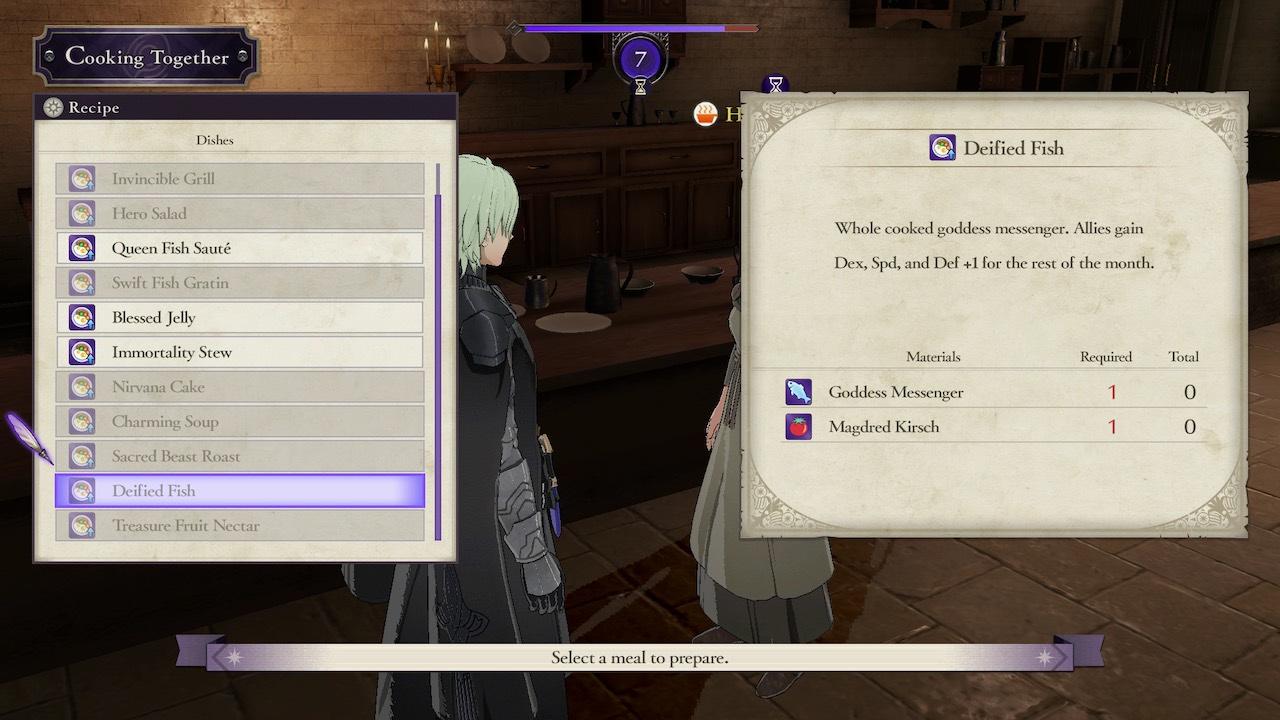 Fire Emblem: Three Houses Cooking Together Screenshot