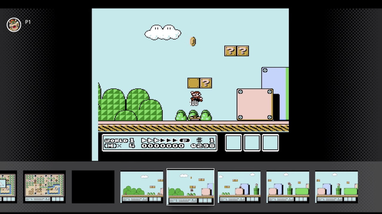 Nintendo Switch Online NES Games Rewind Feature Screenshot