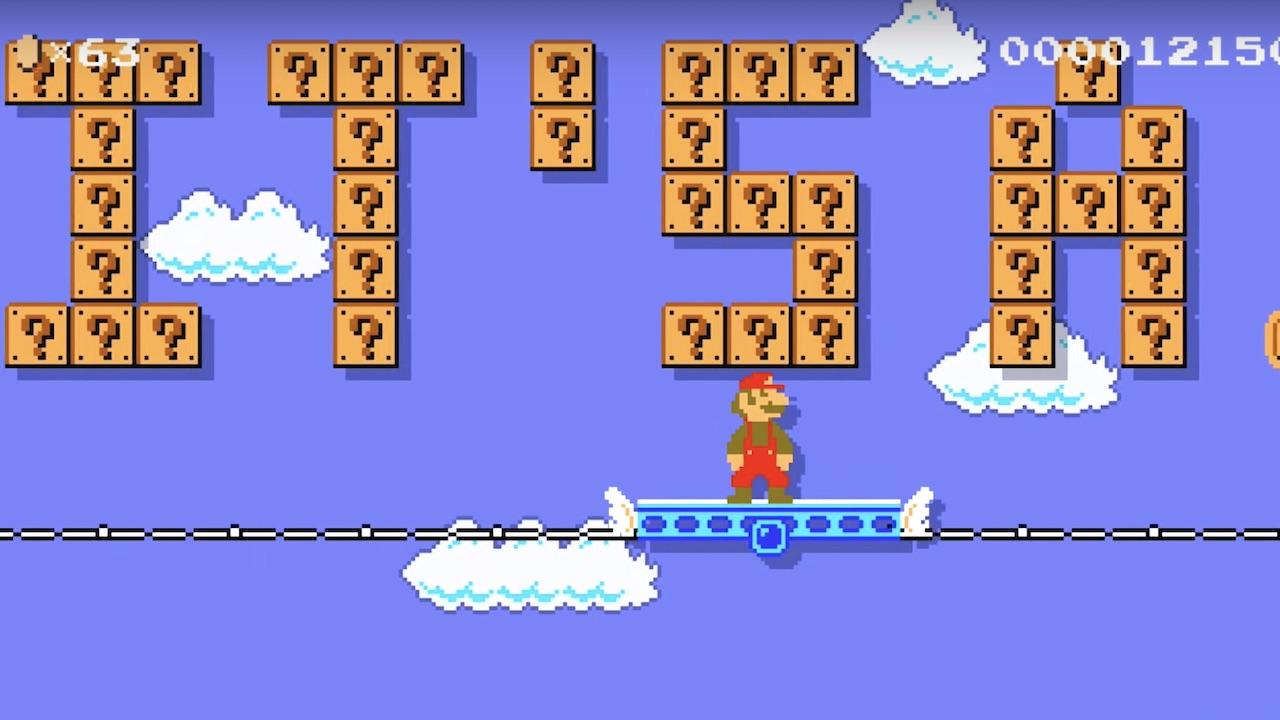 Super Mario Maker 2 Baby Gender Reveal
