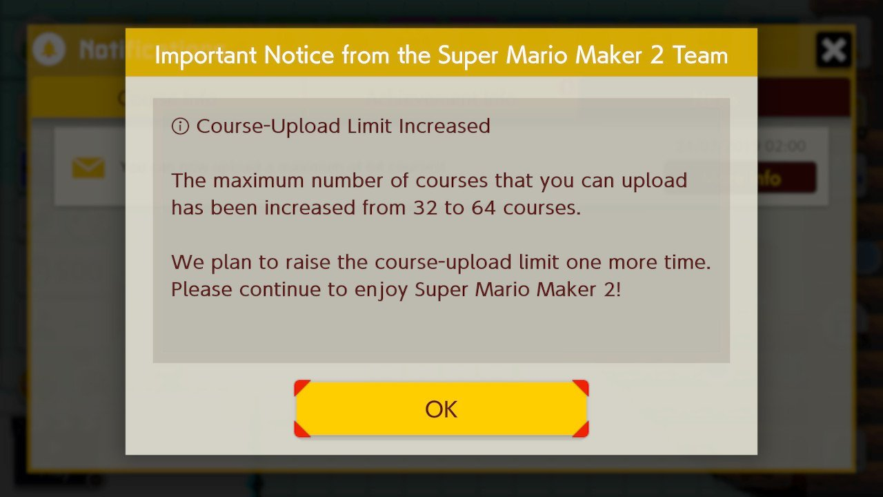 Super Mario Maker 2 Update Screenshot