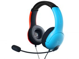Color Block LVL40 Wired Stereo Headset Photo