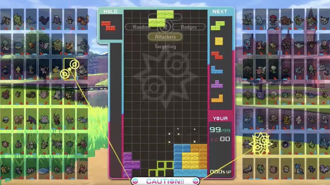 Tetris 99 Pokémon Sword And Shield Theme Screenshot
