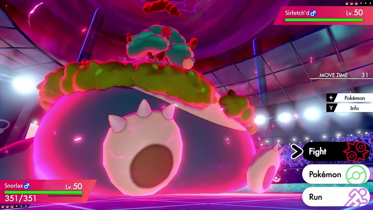 Gigantamax Snorlax Pokémon Sword And Shield Screenshot
