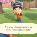 Animal Crossing New Horizons Cherry Blossom Petal Screenshot