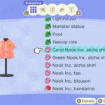 Animal Crossing: New Horizons Coral Nook Inc. aloha shirt Screenshot
