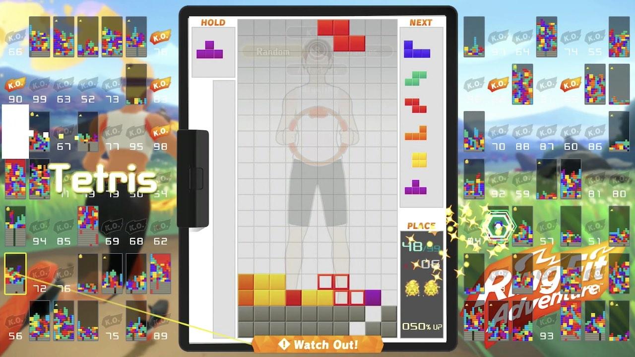 Tetris 99 Ring Fit Adventure Screenshot