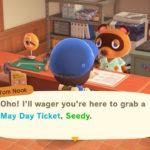 Animal Crossing New Horizons May Day Ticket Screenshot 1