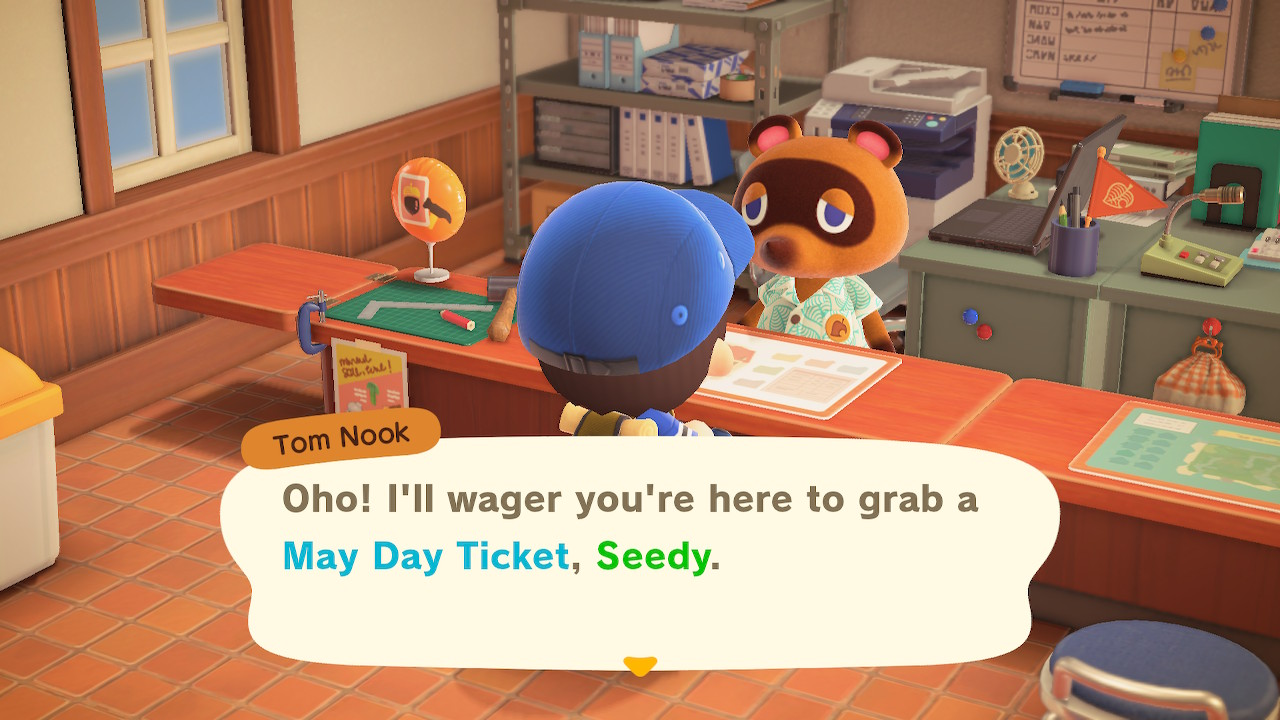 Animal Crossing New Horizons May Day Ticket Screenshot 1