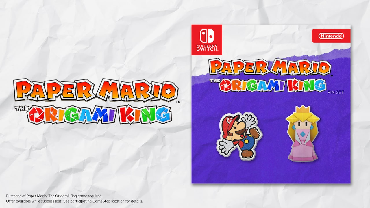 Paper Mario: The Origami King Pin Set Photo