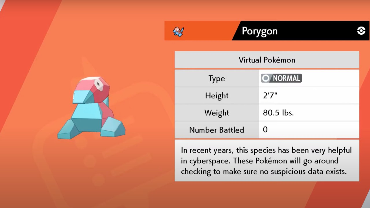 Porygon Pokémon Sword And Shield Screenshot